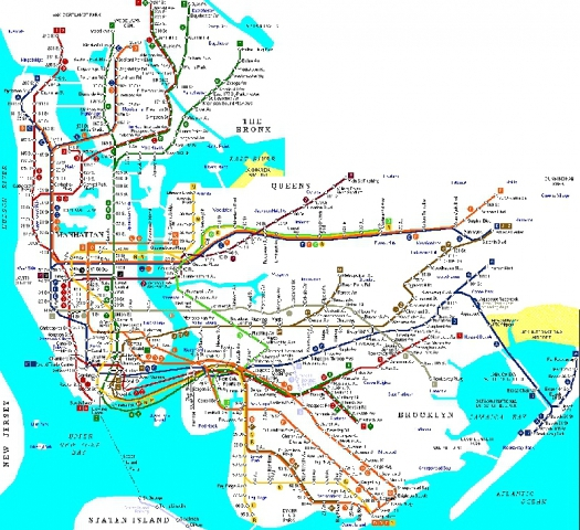 Найзаплутаніші метро світу: Нью-Йорк, США