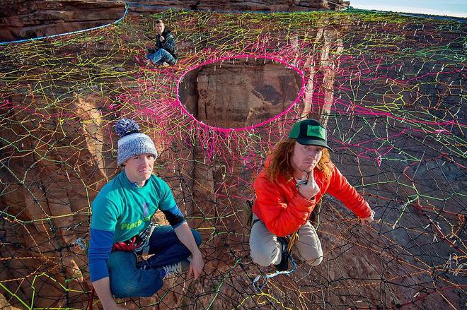 Марсианские пейзажи Юты: паутина над пропастью