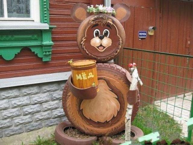 Декор своими руками.медведь