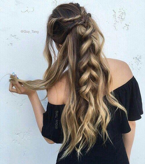 Зачіски на довге волосся 14 лютого