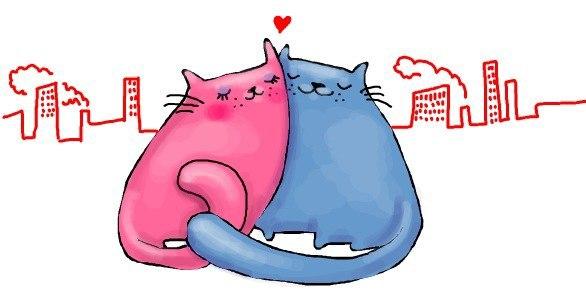 Мурчастая открытка с любовью