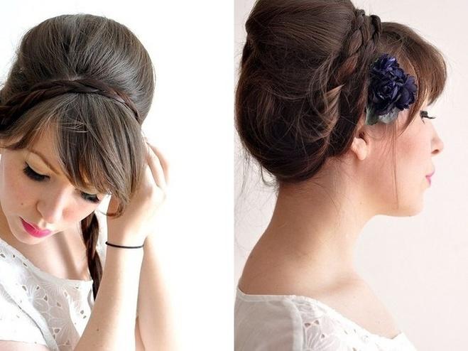 Красиві зачіски з чубчиком