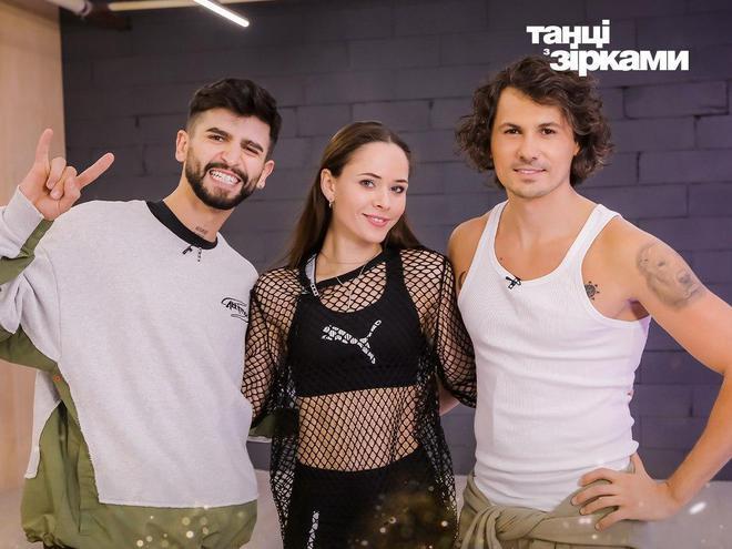 Юлия Санина и Дмитрий Жук с Евгением Котом