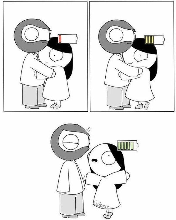 Милые комиксы про парней и девушек