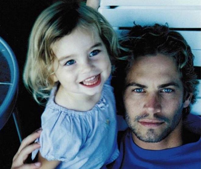 Пол Уокер с дочерью