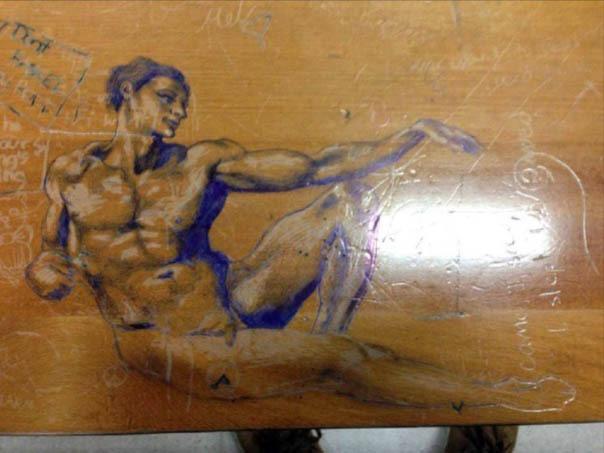 Мировые шедевры живописи на студенческих партах