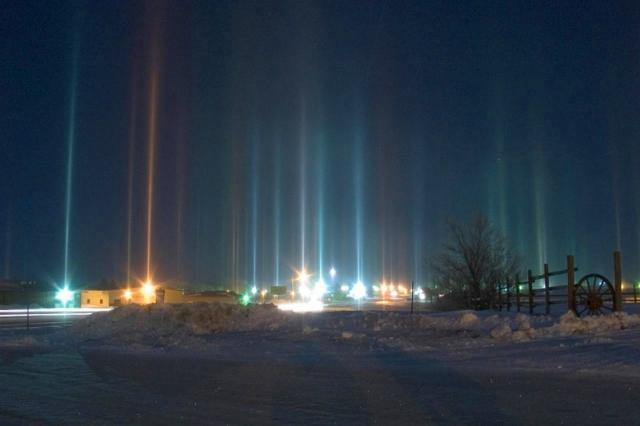 Что нужно увидеть зимой: Световые столбы на Аляске