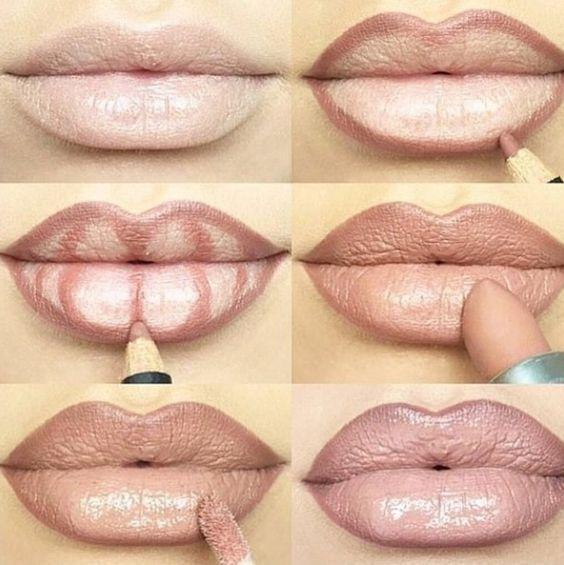 Покроковий урок як збільшити губи