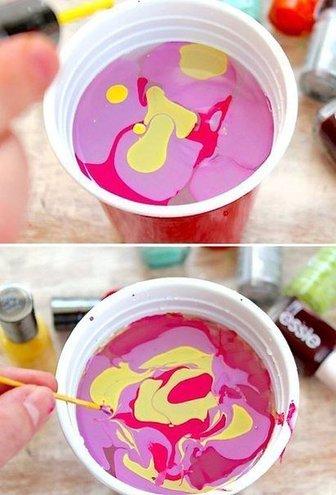 Мармурова ідея фарбування яєць
