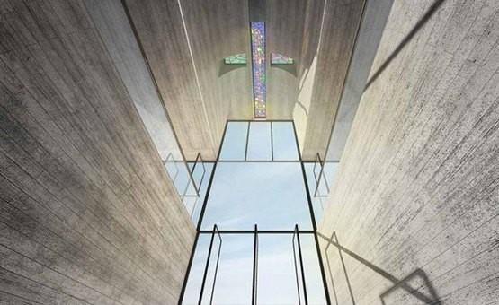 В Егейському морі на стрімкій скелі побудують скляну церкву-хрест