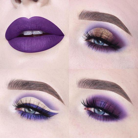 Ультрафиолетовый макияж
