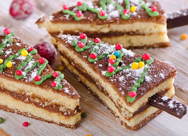Торт на Новий рік 2017