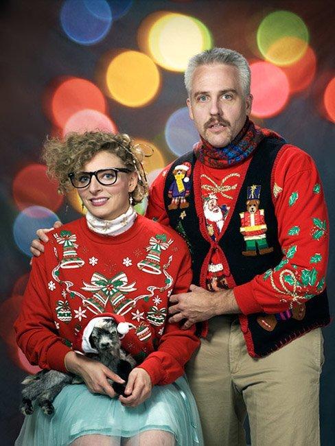 У кого страшнее. Стремные рождественские свитера