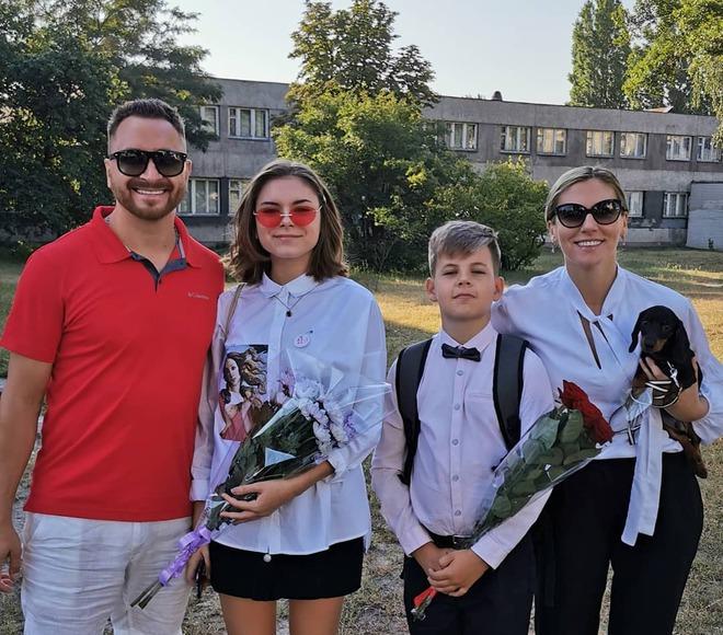 Олег Собчук з сім'єю