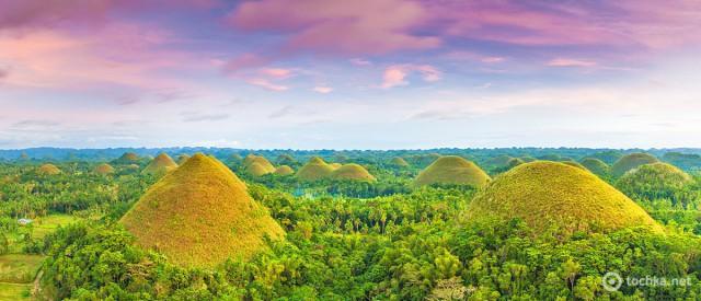 шоколадні пагорби на Філіппінах