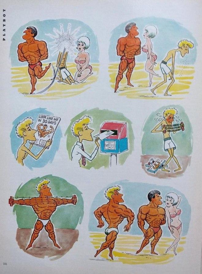 Вся суть качков. Из журнала Playboy 1966 г