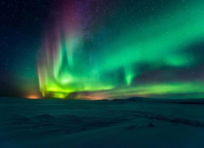 Где смотреть северное сияние зимой