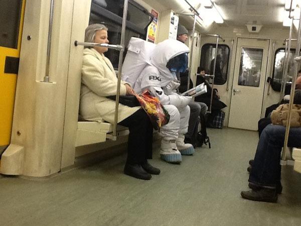 Необычные пассажиры средь белого дня