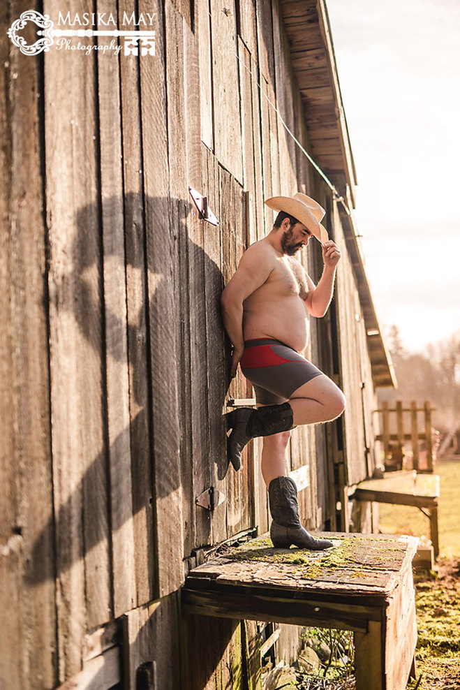 Мужик в сексуальной фотосессии