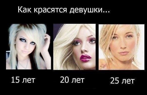 Как красятся девушки...