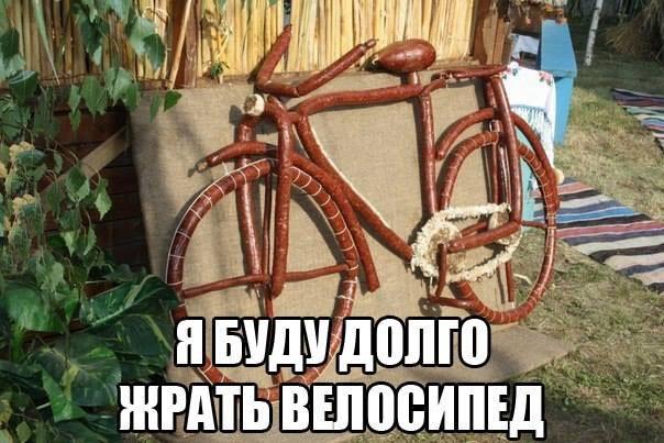 Съедобный велосипед для голодного туриста
