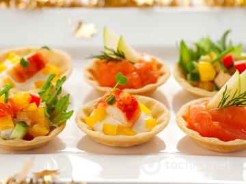 Салати і закуски на святковий стіл, тарталетки