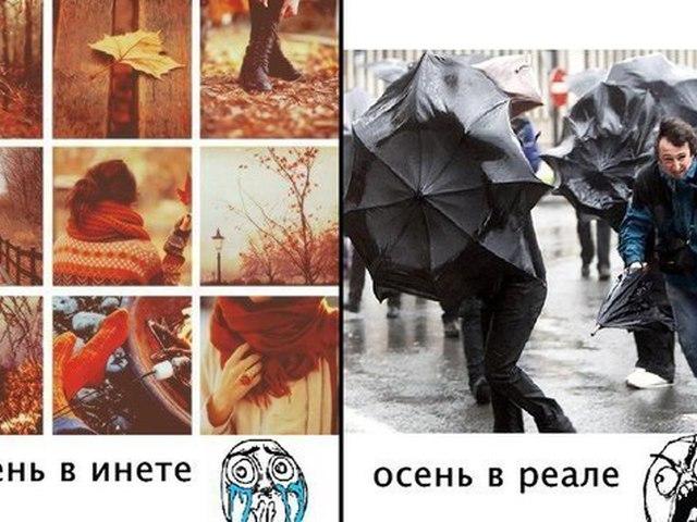 Картинки, прикольные картинки с надписями про осень и жизнь