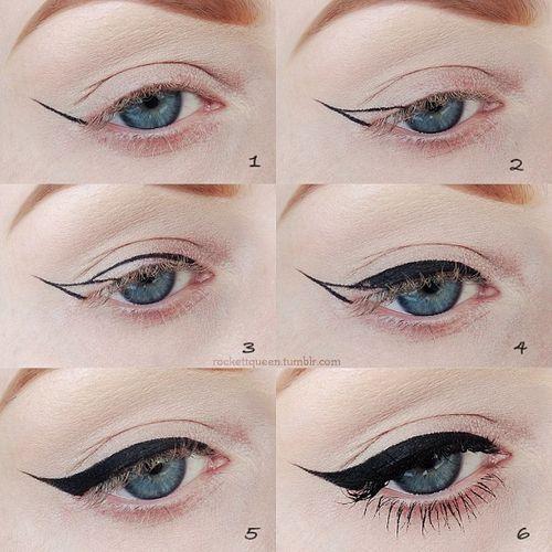 Как рисовать стрелки на глазах поэтапно: идеальные ровные