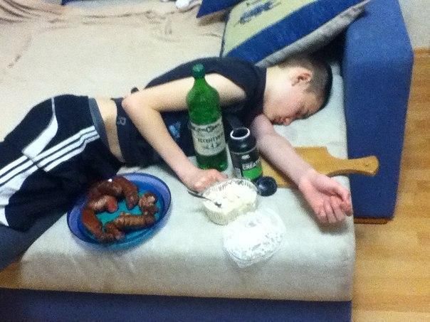 Уснул в новогоднюю ночь
