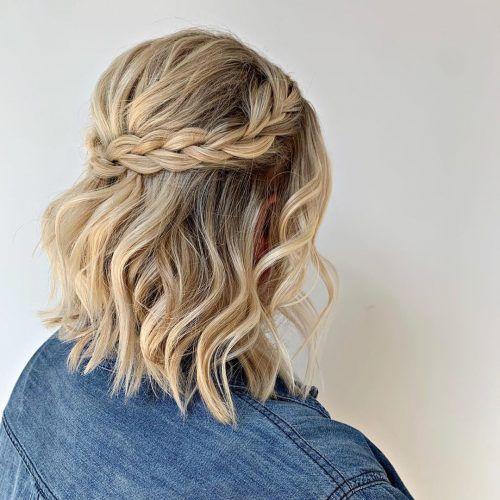 Прості зачіски в офіс на коротке волосся