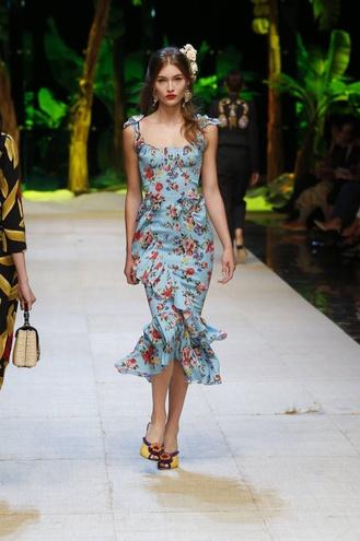 Платья из коллекции дольче габбана 2017