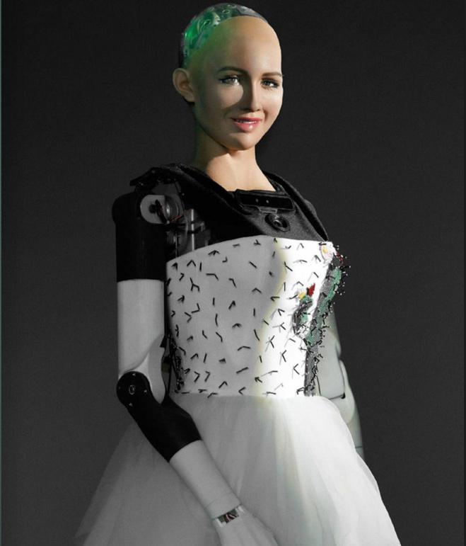 Робот София на обложке журнала
