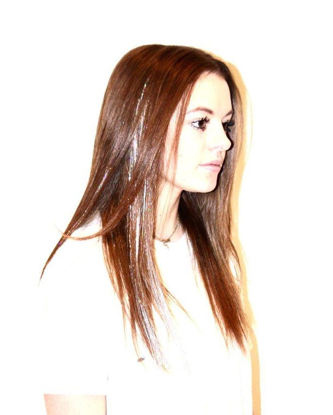 сияние на волосах