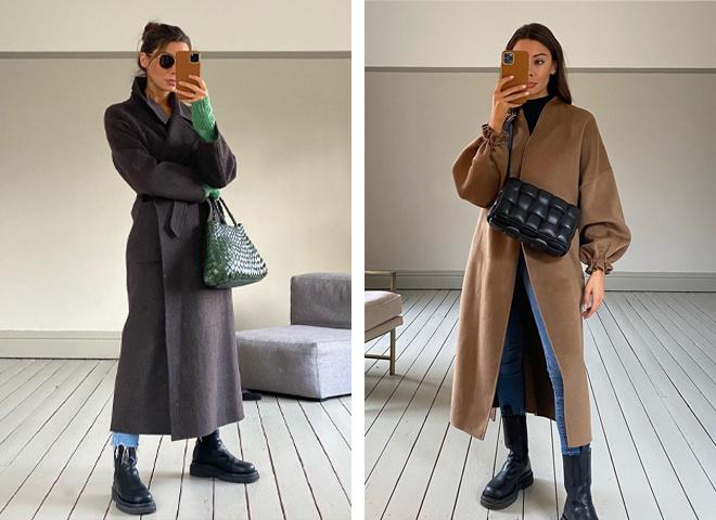 Как стилизовать пальто зимой 2021