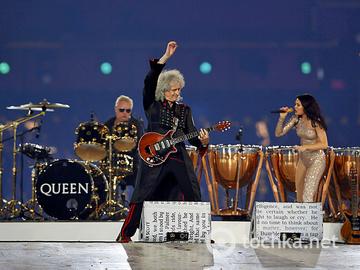 Концерт на закрытии олимпиады