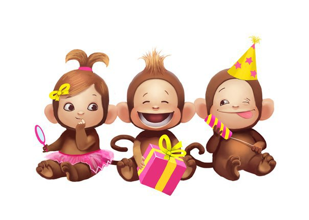 Милые обезьянки 2016
