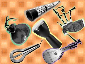 6 музыкальных инструментов