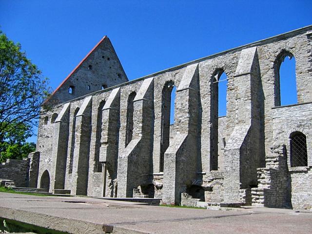 Достопримечательности Таллинна: руины монастыря Святой Биргитты