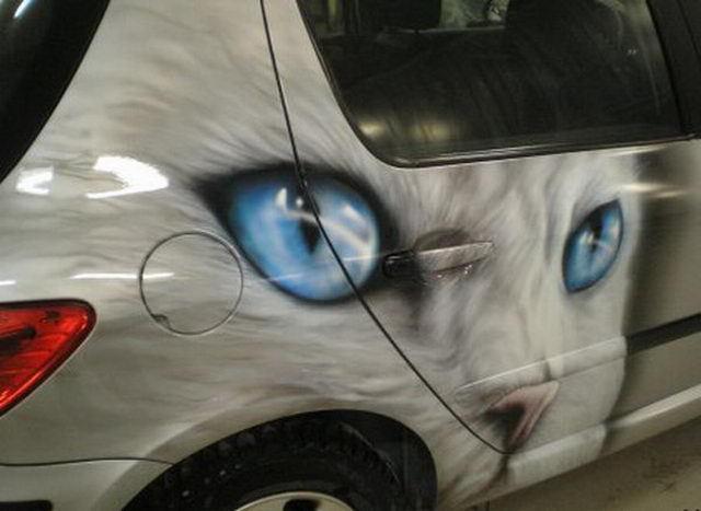 Для любителей котов. Котэ-Аэрография