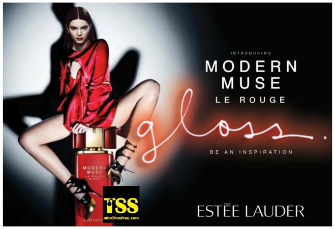 Кендалл Дженнер в кампанії Estee Lauder Muse Le Rouge Gloss