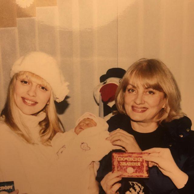 Оля Полякова з мамою Світланою та донькою Машею
