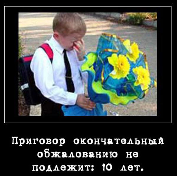 ТОП лучших демотиваторов про 1 сентября