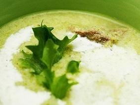Суп из брокколи и фасоли