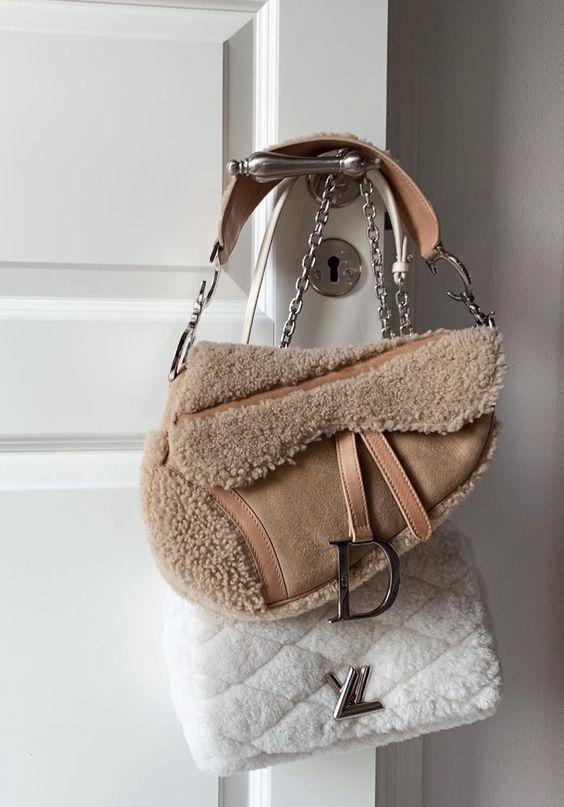 Модная махровая сумка
