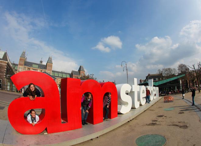 амстердам. город