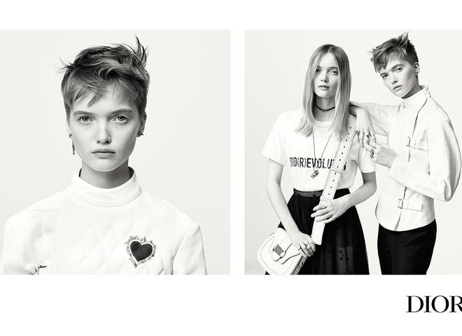 Модели-близняшки в первом кампейне Марии Грации Кьюри для Dior