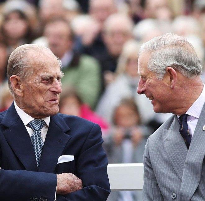 Принц Филипп и принц Чарльз
