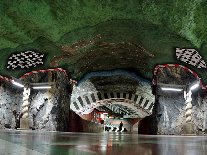 Самое необычное метро в Стокгольме