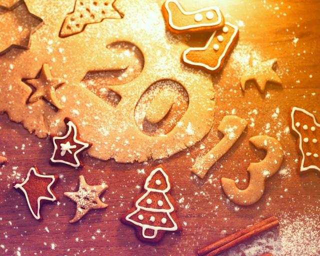 Вкусные открытки с Новым годом 2014