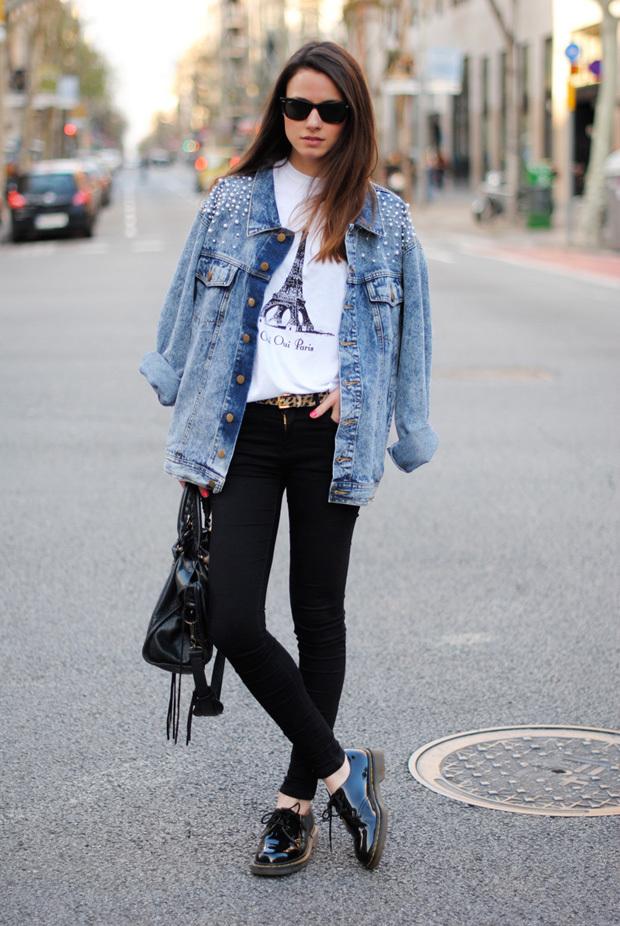 Street-style образы: как носить джинсовую курткуStreet-style образы: как носить джинсовую куртку